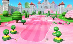 Golf Course art 4 from the official artwork set for #MarioGolf World Tour on the #Nintendo3DS. More info on #Mario 3DS games @ http://www.superluigibros.com/3ds-games