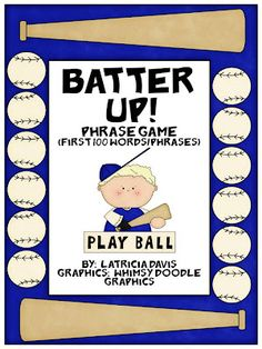 Free!!! Batter Up!! Fry word list phrase game played like BAM!! Easy to modify for therapy with speech targets.