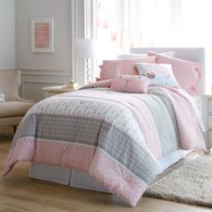 Frank and Lulu Heartwood Forest Comforter Set & Accessories found at it looks so cute i want it so bad Grey Girls Rooms, Big Girl Bedrooms, Twin Comforter Sets, Bedding Sets, Grey Bed Sheets, Dreams Beds, Toddler Rooms, Pink Bedding, Luxury Bedding