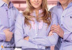Maßgeschneiderte Bivolino Fashio Blusen. Kreieren Sie jetzt Ihre eigene maßgeschneiderte Bluse online. Liberty Flower und viele maßgeschneiderte Aufrdrucke verfügbar. Seit 1954 produziert Bivolino Hemden.