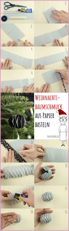 Weihnachtsbaumschmuck aus Papier Just make Christmas tree decorations out of paper yourself. Easy step-by-step instructions for pleating. Also suitable as … Diy Jewelry Unique, Diy Jewelry To Sell, Diy Jewelry Making, Diy Gifts To Sell, Diy Gifts For Mom, Crafts To Sell, How To Make Christmas Tree, Christmas Gifts For Mom, Christmas Diy