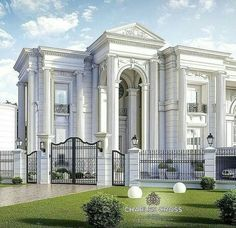luxo Home Builders Classic House Exterior, Classic House Design, House Front Design, Dream House Exterior, Dream Home Design, Dream House Plans, Modern House Design, Neoclassical Architecture, Modern Architecture