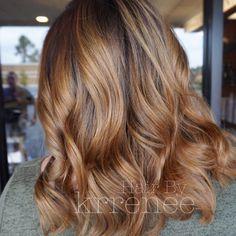 Light brown hair color balayage.