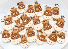 giraffe decorated cookies | Seems I created a little frenzy after posting these giraffe cookies ...