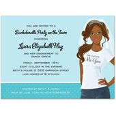 T-Shirt African American Bridal Shower Invitations, 23144