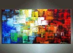 48'' HUGE Original Contemporary Palette Knife Fine Art by art53