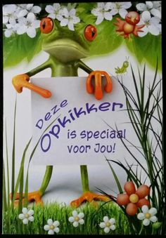 Opkikker Birthday Cards, Happy Birthday, Frog And Toad, Get Well Soon, Get Well Cards, Real Friends, Carpe Diem, Christmas Ornaments, Holiday Decor