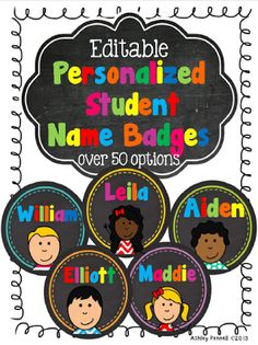Personalised student name badges