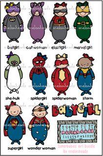 Superhero boys bundle by melonheadz | Super Second Grade | Pinterest ...
