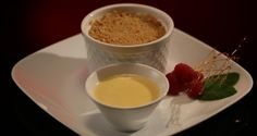 Mick and Matt Apple and Berry Coconut Crumble with Custard