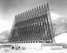 Construction of the Air Force Academy Chapel, which was completed in 1962.