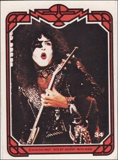 kiss trading cards 1978 pinterest | Kiss, Series 1, #34 | Vintage Bubblegum Trading Card | #TradingCard # ...