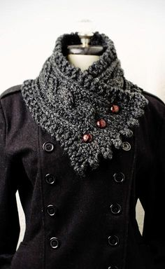 Soft and plush, this is the perfect accessory for the cold winter months. Yarn and pattern included!