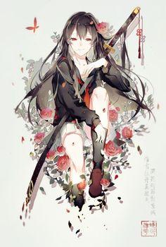 Beautiful anime girl, cool anime girl, anime girls, i love anime, anime Cool Anime Girl, Girls Anime, Beautiful Anime Girl, Anime Art Girl, Anime Girl With Black Hair, Anime Fantasy, Fantasy Art, Manga Girl, M Anime