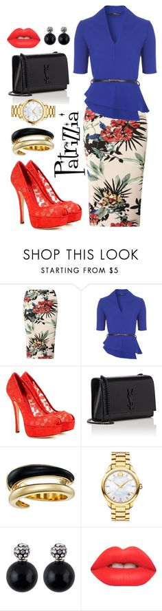 Patrizzia29.09.2016e by patrizzia on Polyvore featuring moda, Dorothy Perkins, Dolce&Gabbana, Yves Saint Laurent, Movado, Michael Kors and Lime Crime