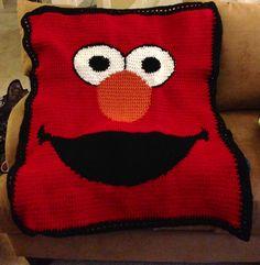 Elmo blanket. By Jessica Lea Designs.