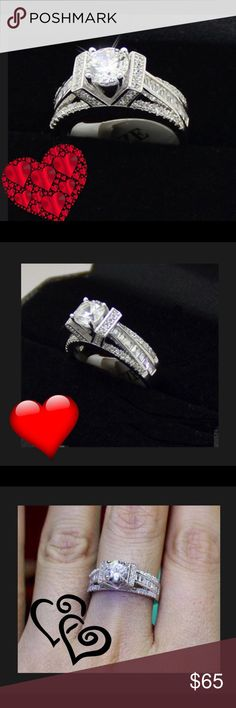 Engagement Ring Brand New Beautiful Ring 2.5TCW of CZ's  Set In .925 Sterling Silver Sterling Silver Jewelry Rings