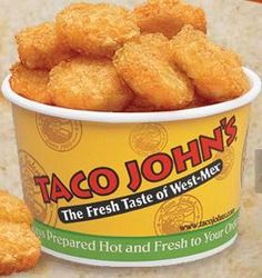 Taco Johns Potato Ole Seasoning: 4 tsp Lawry's seasoning salt 2 tsp paprika 1 tsp ground cumin 1 tsp cayenne pepper Mix all ingredients. Sprinkle on tator tots or crispy crowns. Bake tots or crowns following instructions on package.