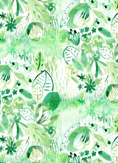 Green Jungle - Real Time - Diet, Exercise, Fitness, Finance You for Healthy articles ideas Patterns In Nature, Textures Patterns, Print Patterns, Floral Patterns, Jungle Illustration, Pattern Illustration, Watercolor Plants, Watercolour, Grass Pattern