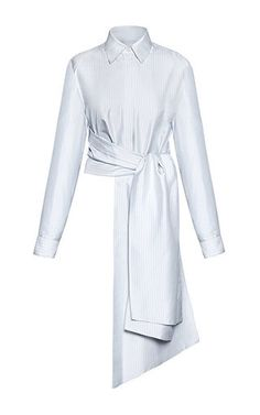 Belted Dress Shirt by LITKOVSKAYA for Preorder on Moda Operandi