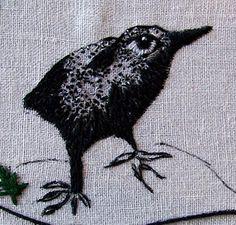 stitch art bird