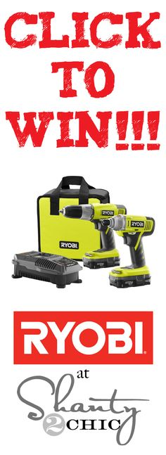 AWESOME Ryobi Tools giveaway at Shanty-2-Chic.com
