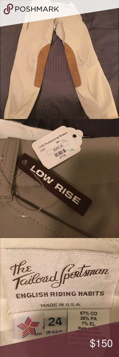 NWT Tailored Sportsman Riding Breeches! Size 24 NWT Tailored Sportsman Tan Breeches. Please make an offer. Tailored Sportsman Pants