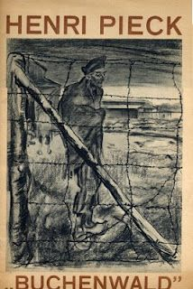 Poster illustration by Henri Christiaan Pieck, 1895-1972, a Dutch artist and illustrator of children's books as well as an architect.  Henri Pieck was captured by the Nazis in 1941 for his part in Dutch resistance to German invasion in World War II. He spent the rest of the war in German custody and part of that time in the Buchenwald concentration camp.
