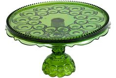 Vintage Green Glass Cake Stand    $45.00