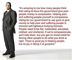 there is great joy in helping people, but no joy in doing it at gunpoint...