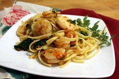 Grated Heirloom Tomato and Shrimp Pasta