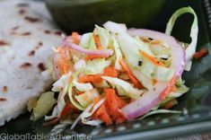 Salvadoran Pickled Cabbage Slaw (Curtido)
