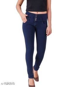 Jeans Stylish Denim Women's Jeans  *Fabric* Denim  *Waist Size* S- 28 in, M- 30 in, L- 32 in, XL- 34 in , XXL - 36 in  *Length* Up To 40 in  *Type* Stitched  *Description* It Has 1 Piece Of Women's Denim Jeans  *Work* Solid  *Sizes Available* 28, 30, 32, 34, 36 *   Catalog Rating: ★4.1 (7412)  Catalog Name: Alyssa Stylish Denim Womens Jeans Vol 1 CatalogID_123166 C79-SC1032 Code: 504-1020910-