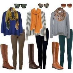 Simple,fun, fall outfits... Simple, yet stylish. Throw up the mane into a messy bun, and you have a perfectly easy, early morning class outfit. The question is, will Georgia ever get could enough for a scarf? Haha