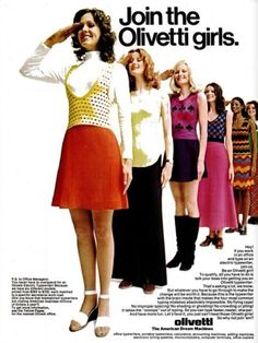 Join The Olivetti Girls ('New York' magazine, April 17, 1972)