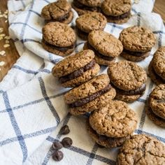 These GF Peanut Butter Sandwich Cookies with Chocolate Hazelnut Filling are rich in flavor and loaded with wholesome goodness! + GIVEAWAY