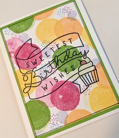 Overthinking the Sunflower Sympathy stamp set from CTMH | MaryGunnFunn.com  Happy Birthday stamped card