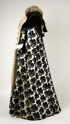 victorian evening mantle | Silk Evening Mantle, House of Worth 1895, French