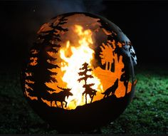 Metal Sphere Fire Pit Ball Iron Cast Outdoor Fire Pit/Portable Fire Pit/Garden Treasures Fire Pit