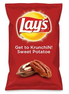 Wouldn't Get to KrunchiN! Sweet Potatoe be yummy as a chip? Lay's Do Us A Flavor is back, and the search is on for the yummiest flavor idea. Create a flavor, choose a chip and you could win $1 million! https://www.dousaflavor.com See Rules.