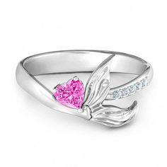 I Love Jewelry Sterling Silver Mystical Mermaid Ring Mermaid Jewelry, Bridal Jewelry, Gold Diamond Wedding Band, Diamond Bands, Sea Glass Jewelry, I Love Jewelry, Silver Jewelry, Silver Ring, Fantasy