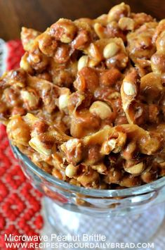 Microwave Peanut Brittle Recipe - This recipe is so easy you do not need a candy thermometer. Peanut Brittle was my dad's favorite candy. I remember him by making this peanut brittle every Dec. for his birthday. It is so easy using the microwave. If you are missing a loved one this holiday, try celebrating the memories you made together and bake their favorite recipe. http://recipesforourdailybread.com/2013/12/03/microwave-peanut-brittle-recipe/ #candy #Christmas