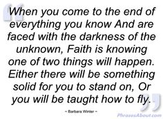 when you come to the end ....