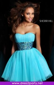 Beautiful Sherri Hill dress - comes in different colours. Strapless number and very gorgeous. Sherri Hill 21163