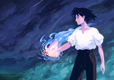 Inspired by Ghibli Studio's Howl's Moving Castle. Howl's Moving Castle, Studio Ghibli Art, Studio Ghibli Movies, Anime Boys, Manga Anime, Hayao Miyazaki, Film Animation Japonais, Castle Movie, Personajes Studio Ghibli