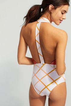 Slide View: 4: Agua De Coco Palm Tree One-Piece Swimsuit