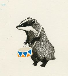Badger illustration by Maria Midttun