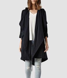 Womens Portere Parka Jacket (Ink) | ALLSAINTS.com