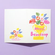 Merci Beaucoup Riso Card by The Adventures Of