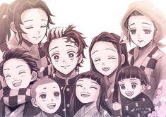 Demon Slayer:Kimetsu No Yaiba: Kamado family Anime Art Girl, Manga Art, Manga Anime, Demon Slayer, Slayer Anime, Fanart, Demon Baby, Anime Galaxy, Identity Art